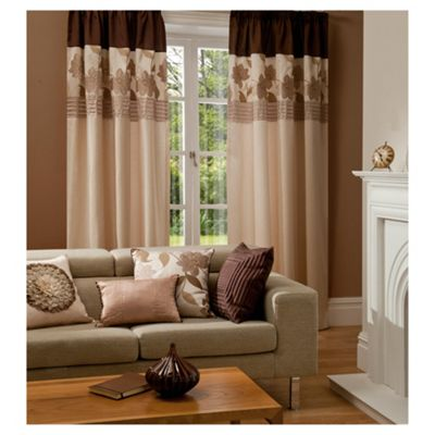 Catherine Lansfield Clarissa Lined Pencil Pleat Curtains W167xL137cm (66x54