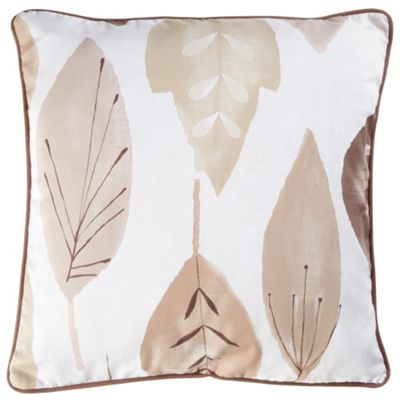 Tesco Cushions Watercolour Leaf Cushion, Natural