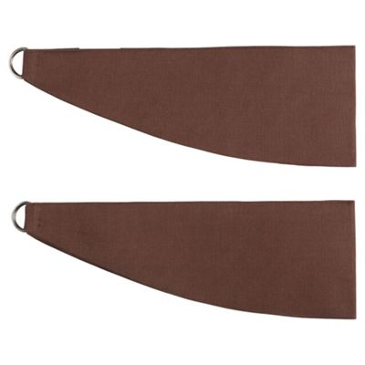 Tesco Plain Canvas Tiebacks, Choc