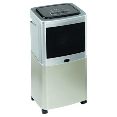 Tesco AC20L12 Air Cooler, Silver and Black