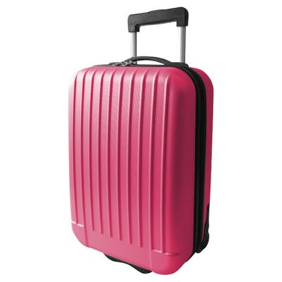 Tesco Hard Shell 2-Wheel Suitcase, Pink Small