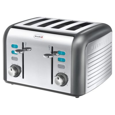 Breville VTT413 Opula Collection Moonstone 4 Slice Toaster