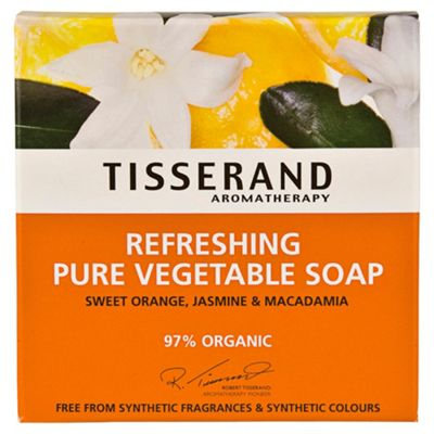 Tisserand Refreshing Soap (Sweet Orange, Jasmine & Macadamia)