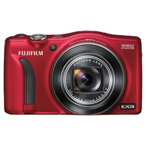 Fuji F770EXR Digital Camera, Red, 16MP, 20x Optical Zoom, 3.0