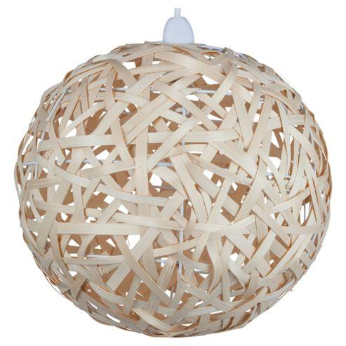 Tesco Lighting Bali Globe Pendant Woven Bamboo
