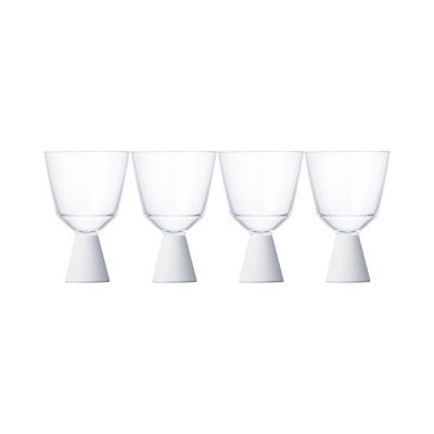 Kinto Festa Wine Glasses Resin Plastic White Set of 4