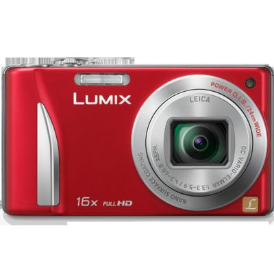 Panasonic TZ25 Digital Camera, Red, 12.1MP, 16x Optical Zoom, 3.0 inch LCD Screen