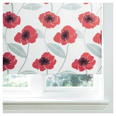 Poppy Lined Roman Blind 60x120cm Red