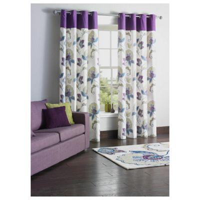 Tesco Marrakesh Print Lined Eyelet Curtains W163xL137cm (64x54