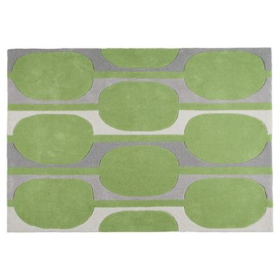 Tesco Rugs Retro Rug Green 120X170Cm