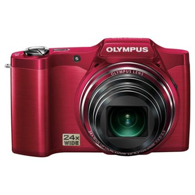 OlyMPus SZ-14 Digital Camera, Red, 14MP, 24x Optical Zoom, 3.0