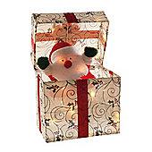 Festive Animated Santa Parcel 30cm