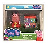 Peppa Pig Figure and Accessory (Peppa Pig W/House)