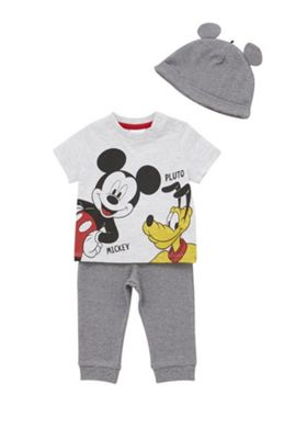 Disney Mickey Mouse and Pluto 3 Piece Set Multi 0-1 months