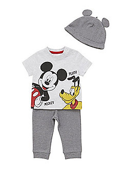 Disney Mickey Mouse and Pluto 3 Piece Set - Multi