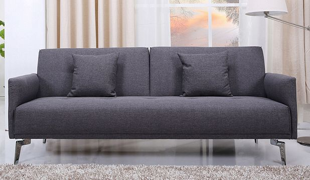 Leader Lifestyle Sven Sofa Bed Pebble Grey Fabric Catalogue Number 216 0838
