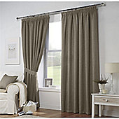 Curtina Leighton Mocha Lined Curtains 66x72 Inches