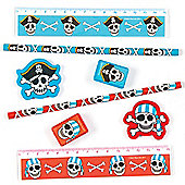 Pesty Pirates 4-Pc Stationery Set for Children - Fun Party Bag Filler Loot Gifts for Kids (Pack of 3)