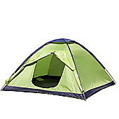 North Gear Camping Scott Waterproof 3 Man Dome Tent Green