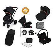 Ickle Bubba Stomp V3 AIO Isofix Travel System/Buggy Lights Black (Black Chassis)