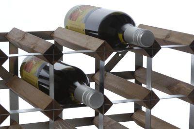 Traditional Wine rack Co Self- Assembly Wine rack - 15 Bottles - Dark Oak