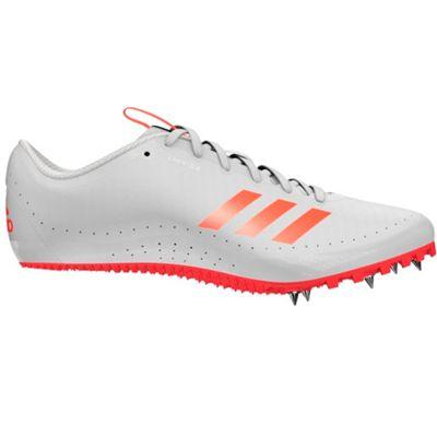 adidas Sprintstar Running Spike Trainer Shoe White/Red - UK 12