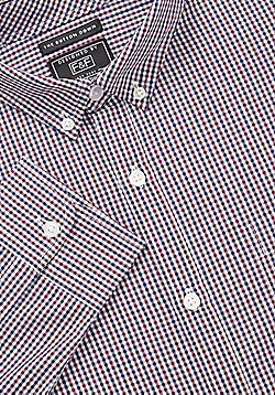 F&F Mini-Check Shirt - Red