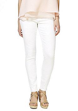 Vero Moda Mid Rise Slim Leg Jeans - White