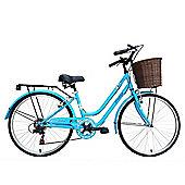 "Tiger Vintage 24"" 7 Speed Ladies Retro Bike Blue"
