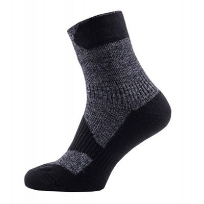 Sealskinz Mens Walking Thin Ankle Sock Dark Grey S