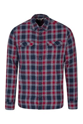 Mountain Warehouse Trace Mens Flannel Long Sleeve Shirt ( Size: L )