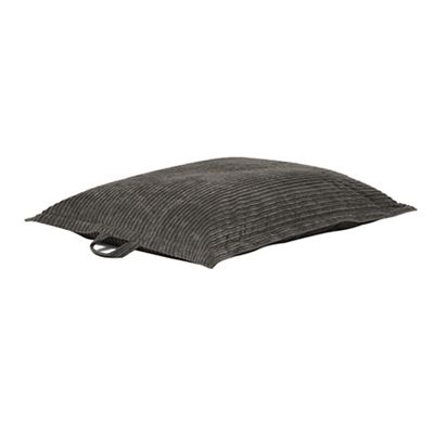 Charcoal 'The Whale' Jumbo Cord Extra Large Bean Bag Slab