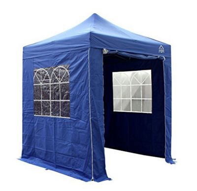 All Seasons Gazebos, Heavy Duty, Fully Waterproof, 2m x 2m Superior Pop up Gazebo Package in Royal Blue