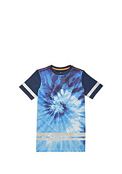 F&F Mesh Tie Dye T-Shirt - Blue