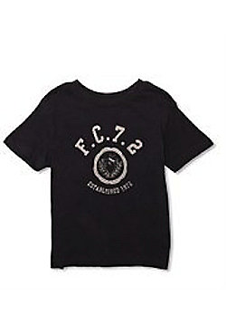 French Connection 'F.C.7.2' Logo Tee - Available In 3-4Y/4-5Y/6-7Y - Blue
