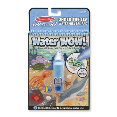 Melissa & Doug Water Wow! Under the Sea Reuseable Painting Book Blue