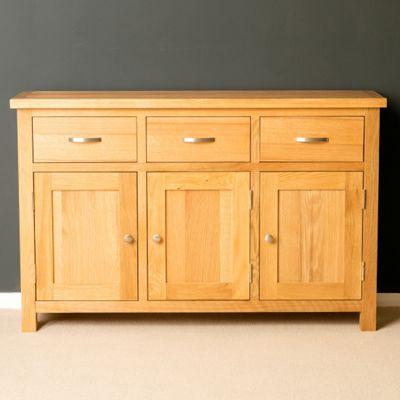 London Oak Sideboard - Large Sideboard - Light Oak