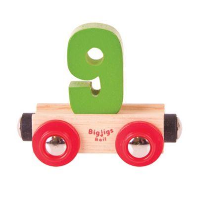 Bigjigs Rail Rail Name Number 9 (Green)