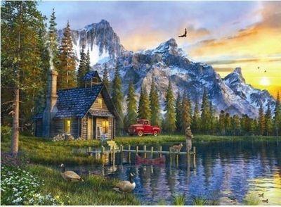 Sunset Cabin - 1000pc Puzzle
