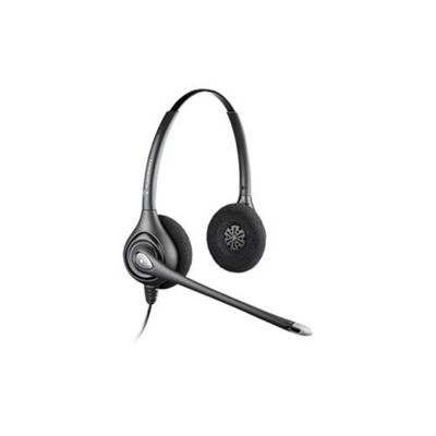 Plantronics SupraPlus HW261 Wired Stereo Headset - Over-the-head - Semi-open - Black