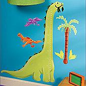 Dino Height Chart Wall Sticker