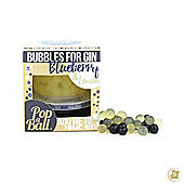 PopaBall Bursting Juicy Bubbles with Extendable Straw Bubbles for Gin Blueberry and Lemon Flavour