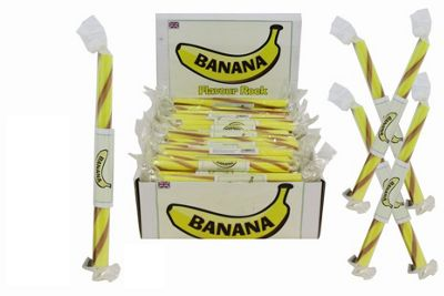20 Small Flavoured Rock Sticks - Banana Flavour
