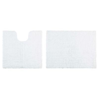 Tesco Reversible Pedestal And Bath Mat Set White