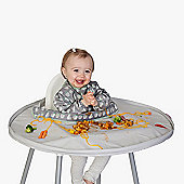 TidyTot All-in-one Bib &Tray Kit Dove Grey with Travel Bag