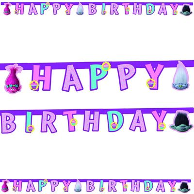 Buy trolls happy birthday party letter banner from our all party trolls happy birthday party letter banner bookmarktalkfo Images