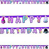 Trolls Happy Birthday Party Letter Banner