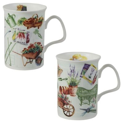 Roy Kirkham In the Garden Fine Bone China Lancaster Mug, Set of 2 XINT1000X2