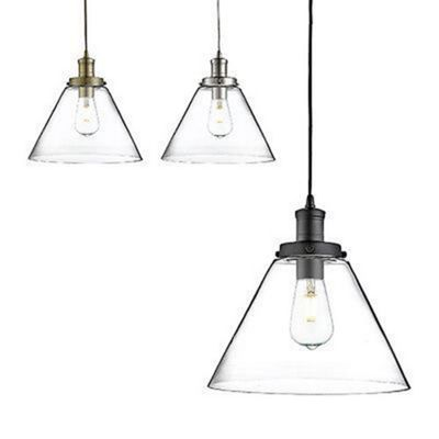 Pyramid Chrome Pendant Lights (pack Of 6 - 2 X Chrome, Black & Brass)