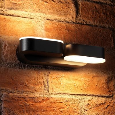 Auraglow 13w Indoor / Outdoor Integrated Twin LED Up & Down Swivel Rotating Wall Light